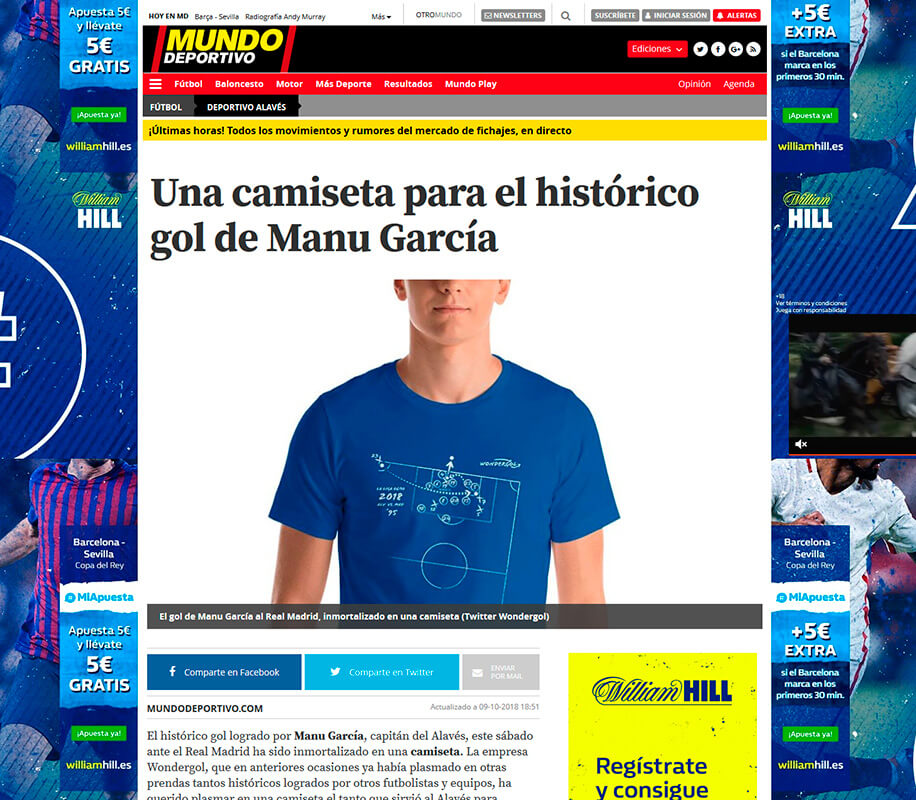 Noticia Wondergol en Mundo Deportivo