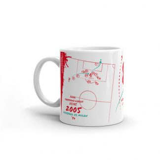 White mug goal Liverpool vs Milan 2005