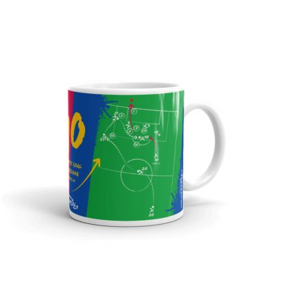 Green mug goal barca vs realmadrid left