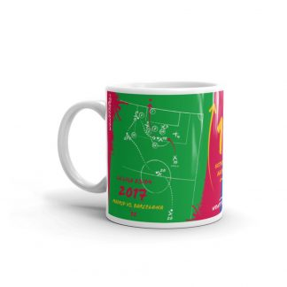 Green mug goal barca vs realmadrid left