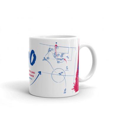 White mug goal barca vs realmadrid left