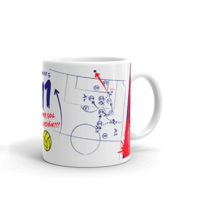 White mug with the goal by Gallar Huesca first gol in La Liga