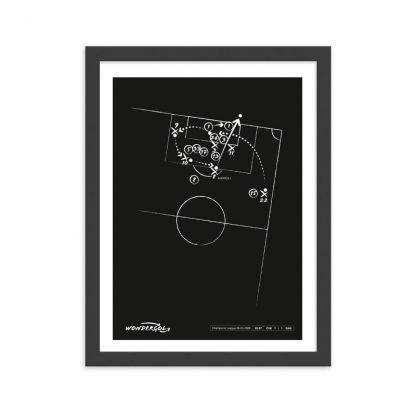 Cuadro con gol de Andrés Iniesta al Chelsea Champions 2009 - Negro