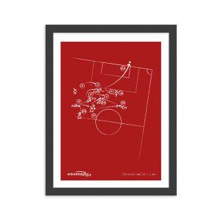 Cuadro con gol de Coke al Liverpool UEFA 2016 - Rojo