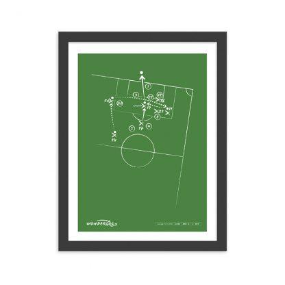 Cuadro con gol de Joaquín al Barcelona La Liga 2018 - Verde