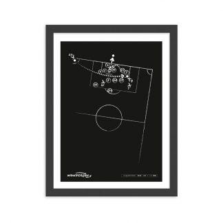 Cuadro con gol de Manu Garcia al Madrid Liga 2018 - negro