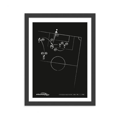 Cuadro con gol de Zinedine Zidane al Bayer Leverkusen Champions 2002 - Negro