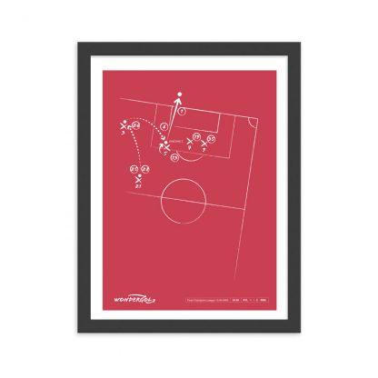 Cuadro con gol de Zinedine Zidane al Bayer Leverkusen Champions 2002 - Red