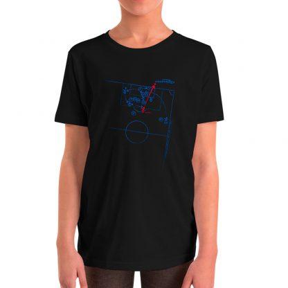 Camiseta con gol de Iniesta al Chelsea para niños color negra