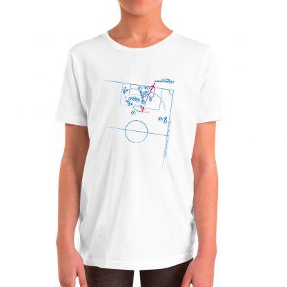 Camiseta con gol de Iniesta al Chelsea para niños color blanca
