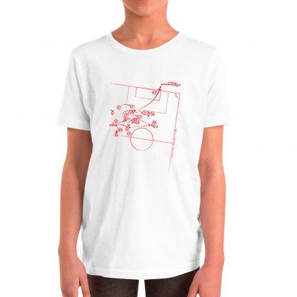 Camiseta con gol de Coke en la final de la UEFA 2016 para niños color blanca