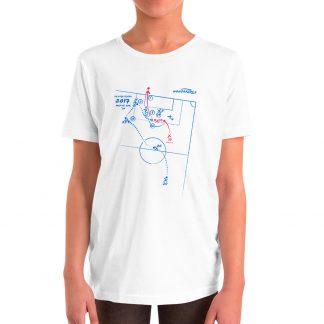 Camiseta con Gol de Lionel Messi al Real Madrid en La liga 2017 talla niños color blanca
