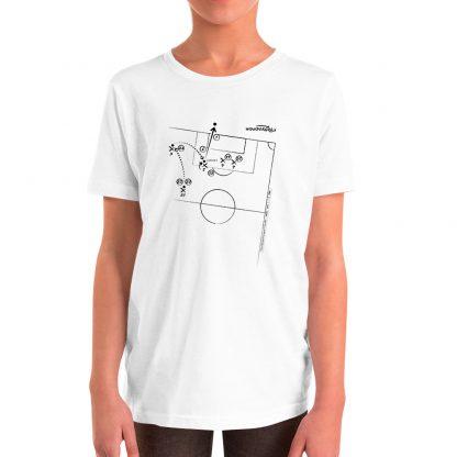 Camiseta con gol Zinedine Zidane en final de champions talla para niños color blanca