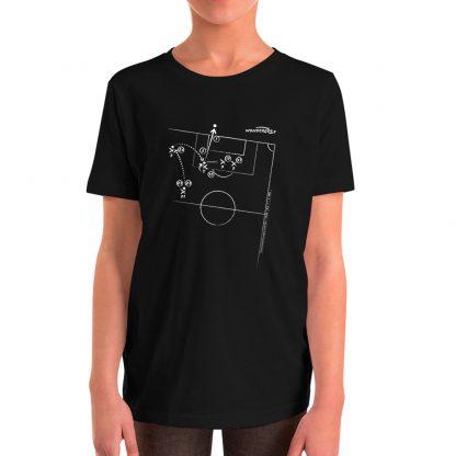 Camiseta con gol Zinedine Zidane en final de champions talla para niños color negra