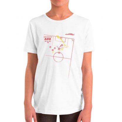 Camiseta de gol de Iniesta en la final del mundial para niños color blanca