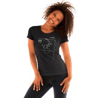 Camiseta con gol de Iniesta en la final del mundial 2010 - mujer- black