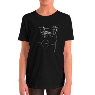Camiseta con gol de Sergio Ramos para niños color negra