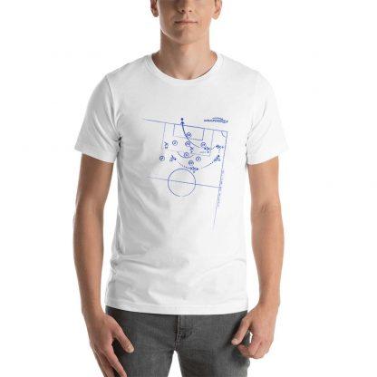 Camiseta con gol de Jaime Quesada al Barcelona en la Liga 1993 - white