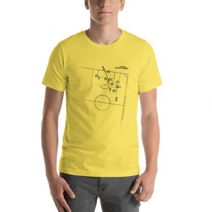 Camiseta con gol de Saenz al Milan en Champions League 2003 - yellow
