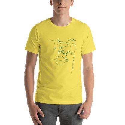camiseta con Gol de Gabriel Jesus a Peru en Final de la Copa America 2019 - yellow