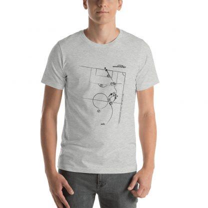 Camiseta con gol de Lautaro Acosta a San lorenzo - Gris