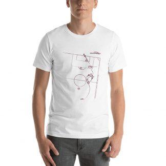 Camiseta con gol de Lautaro Acosta a San lorenzo - blanca