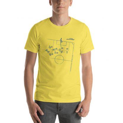 Camiseta con gol Tevez superliga 2020 amarilla