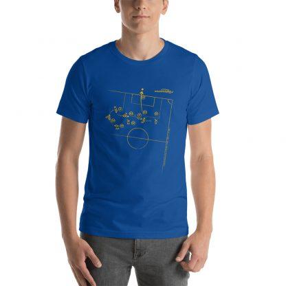 Camiseta con gol Tevez superliga 2020 azul