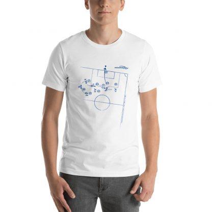 Camiseta con gol Tevez superliga 2020 blanca