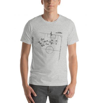 Camiseta con gol Tevez superliga 2020 gris