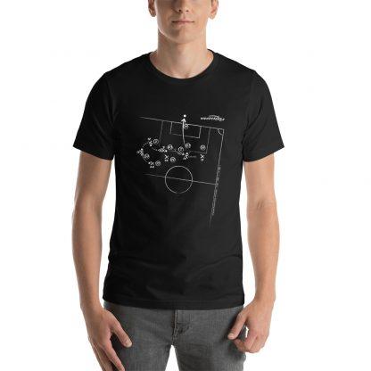 Camiseta con gol Tevez superliga 2020 negra